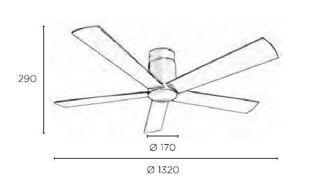 RODAS ventilatore da soffitto