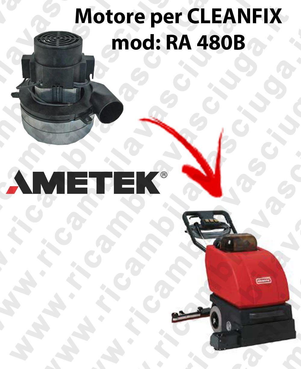 RA 480B Motore aspirazione AMETEK ITALIA per lavapavimenti CLEANFIX