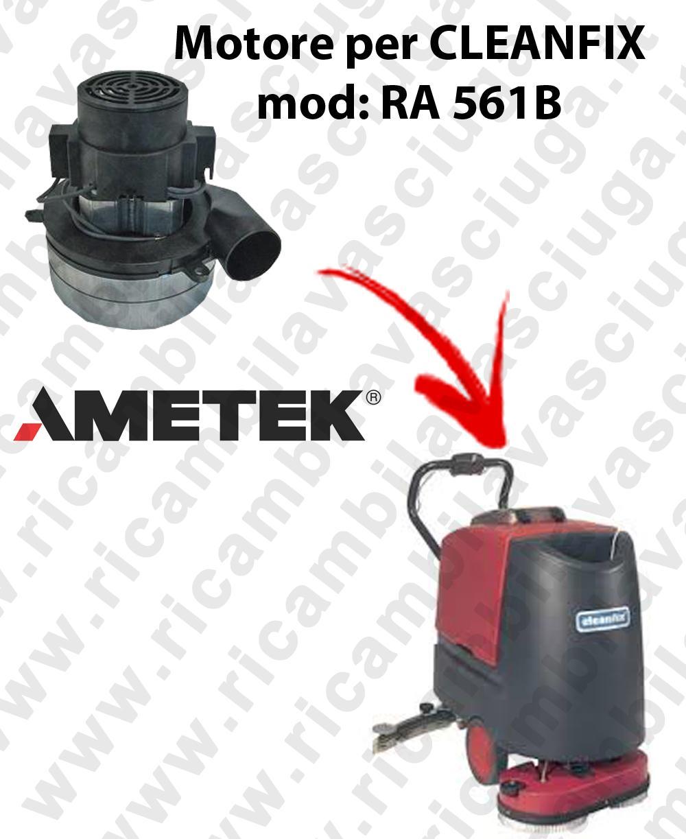 RA 561B Motore aspirazione AMETEK ITALIA per lavapavimenti CLEANFIX