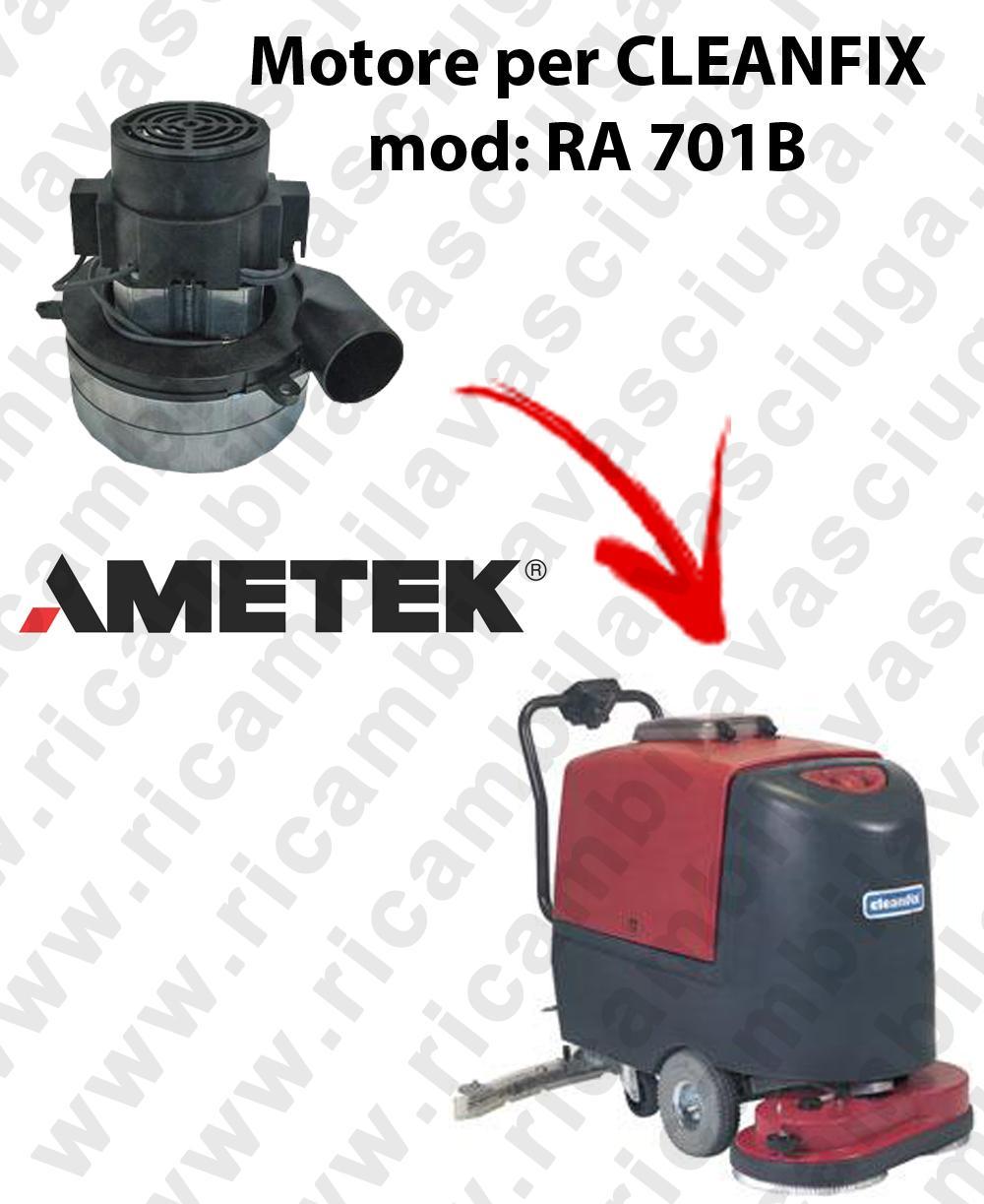 RA 701B Motore aspirazione AMETEK ITALIA per lavapavimenti CLEANFIX