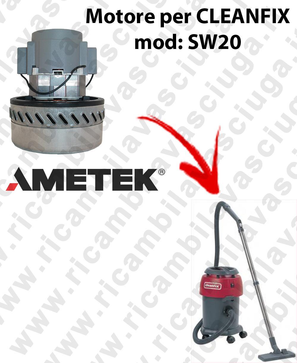 SW20 MOTORE AMETEK di aspirazione per aspirapolvere e aspiraliquidi CLEANFIX