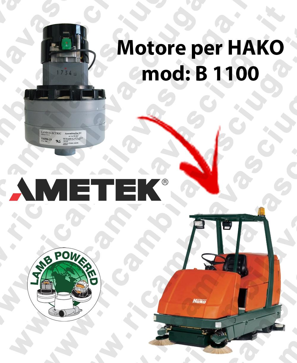 B 1100 MOTORE LAMB AMETEK di aspirazione per lavapavimenti HAKO