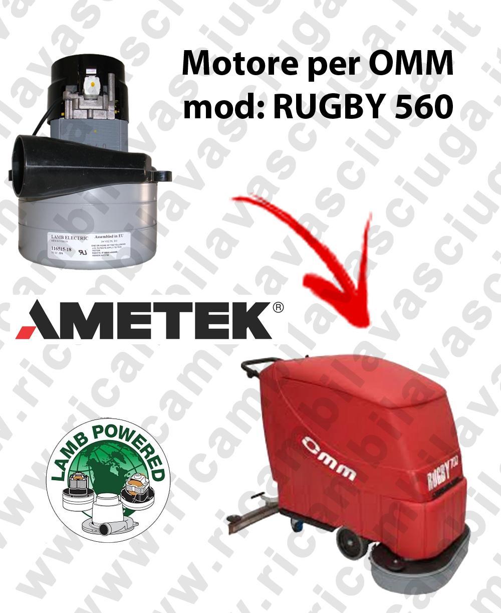 Motore LAMB AMETEK di aspirazione X Lavapavimenti OMM RUGBY 560