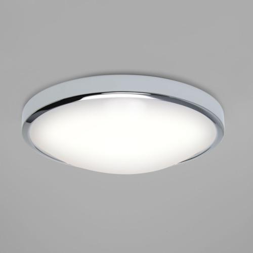 Plafoniera design per bagno osaka 350 cromo con led 24watt - Specchi ingranditori illuminati ...