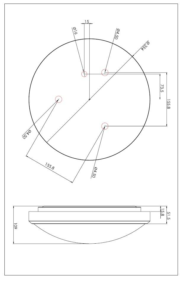 OSAKA SENSOR  LED 24W plafoniera cromo