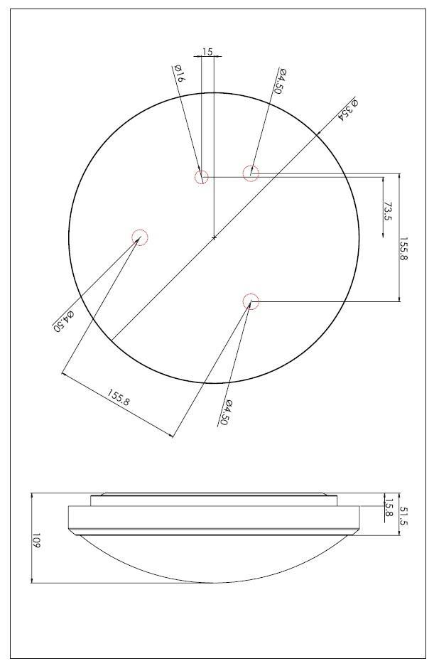 OSAKA SENSOR LED 24W plafoniera nichel