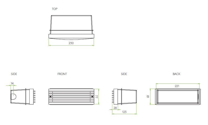 RIB LED applique incasso esterno