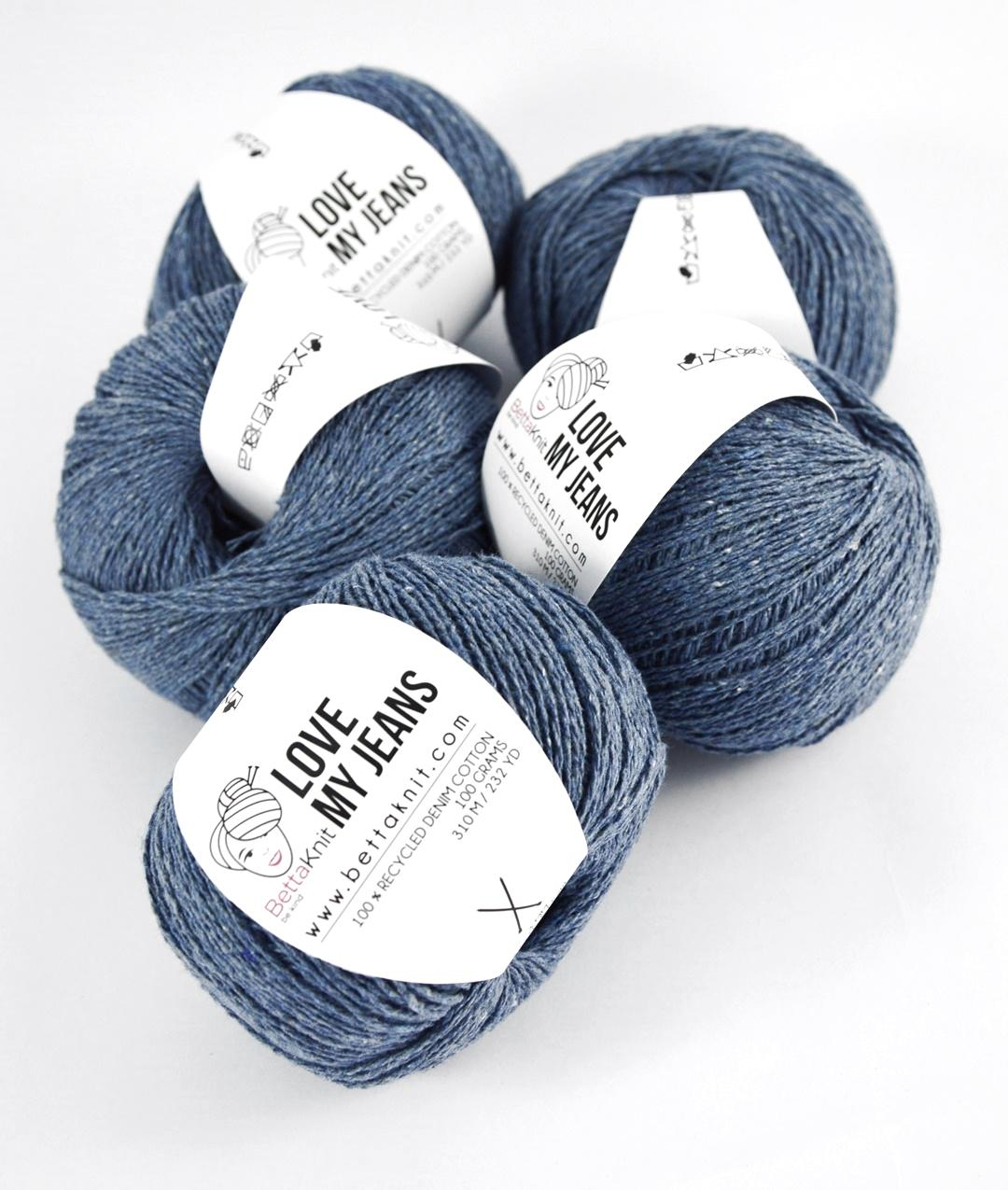 Yarn boxes without Needles  - Pack of Yarn - Love My Jeans Pack - 5 balls - 1