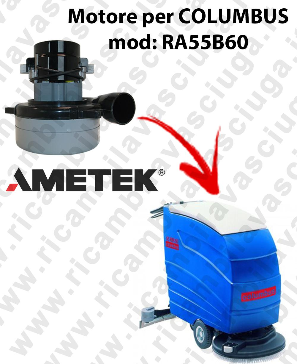 RA55B60 MOTORE LAMB AMETEK di aspirazione per lavapavimenti COLUMBUS