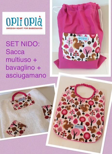 SET NIDO - SCOIATTOLO ROSA