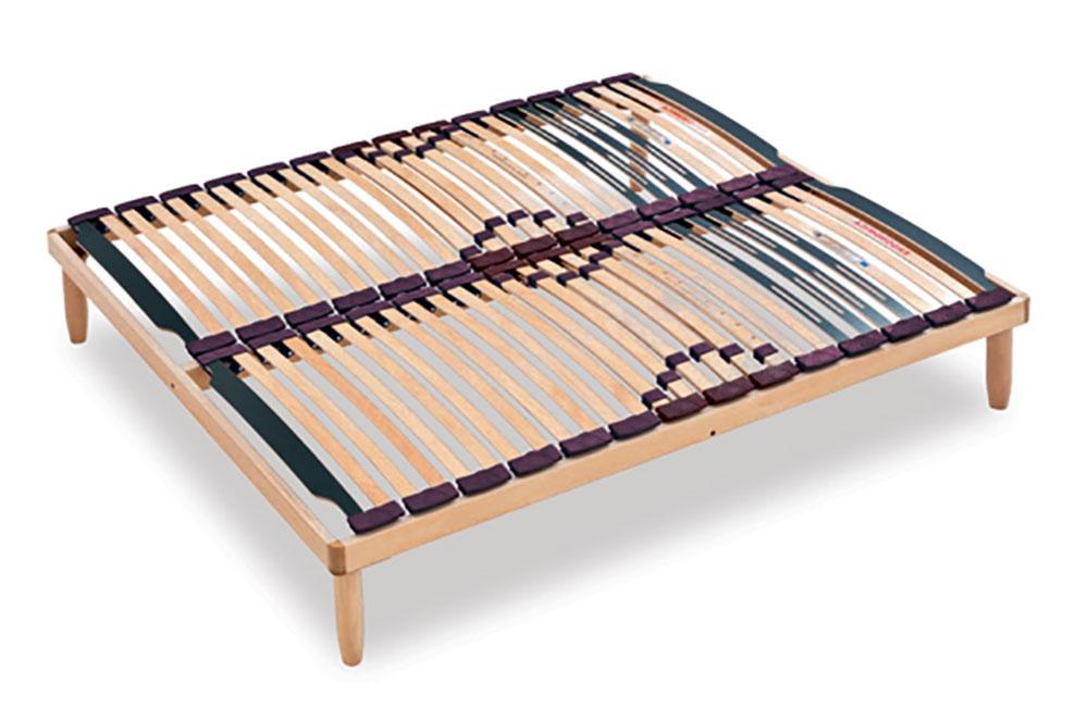Hardwood Bed Slats ~ Beechwood bed base slatted fixed lemon for mattress