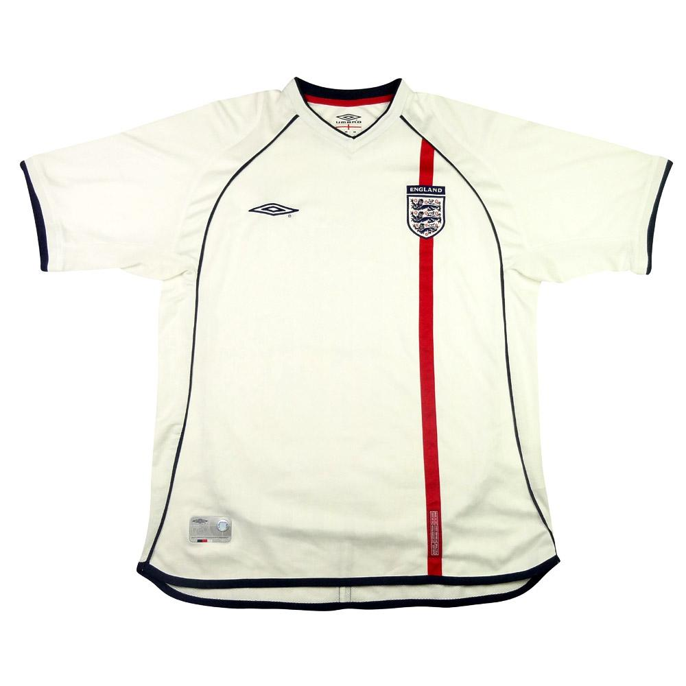 2001-03 Inghilterra Maglia Home L