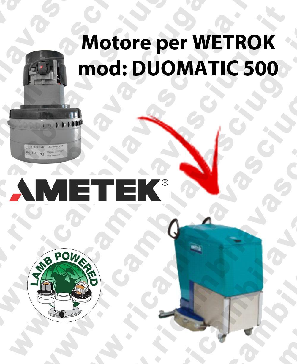 DUOMATIC 500 MOTORE LAMB AMETEK di aspirazione per lavapavimenti WETROK