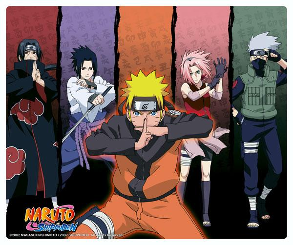 Naruto Shippuden Group mouse pad tappetino