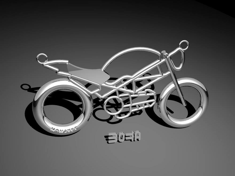 Ciondolo Moto Stilizzate, Monster