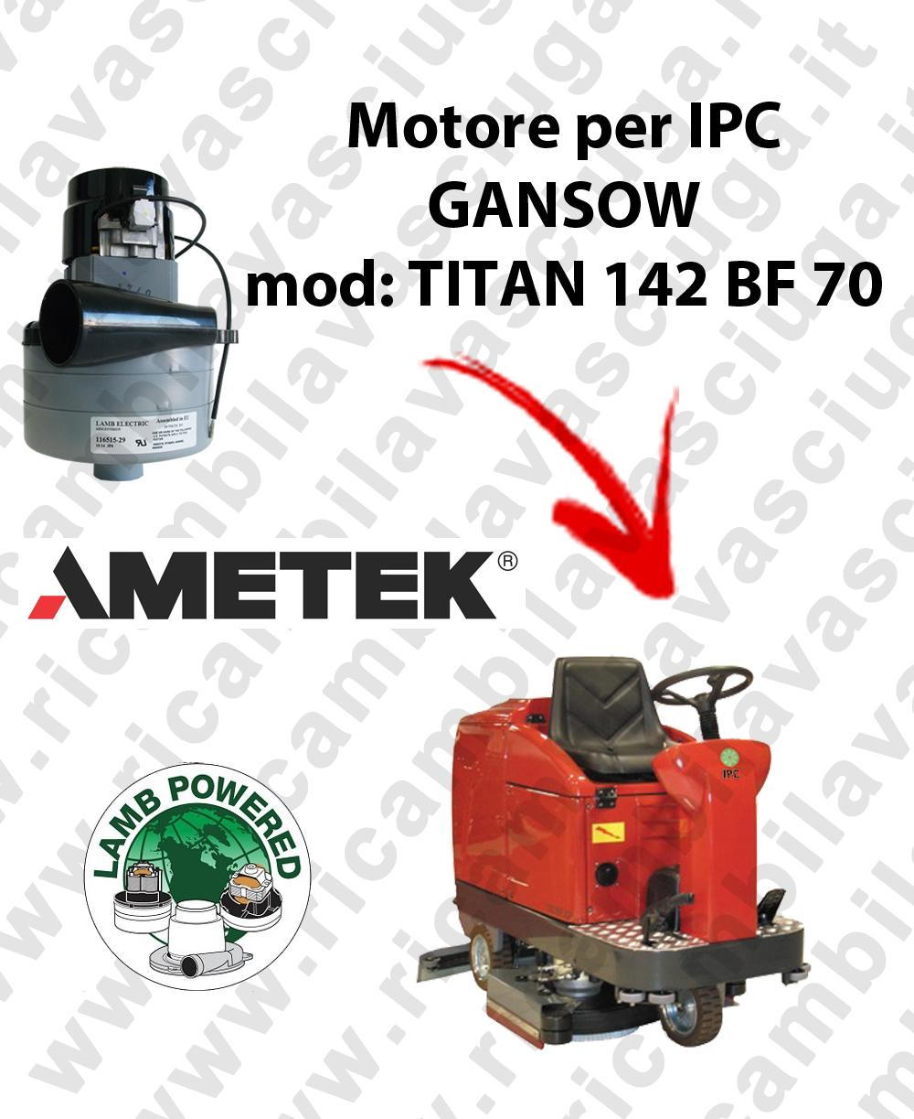 TITAN 142 BF 70 MOTORE LAMB AMETEK di aspirazione per lavapavimenti IPC GANSOW