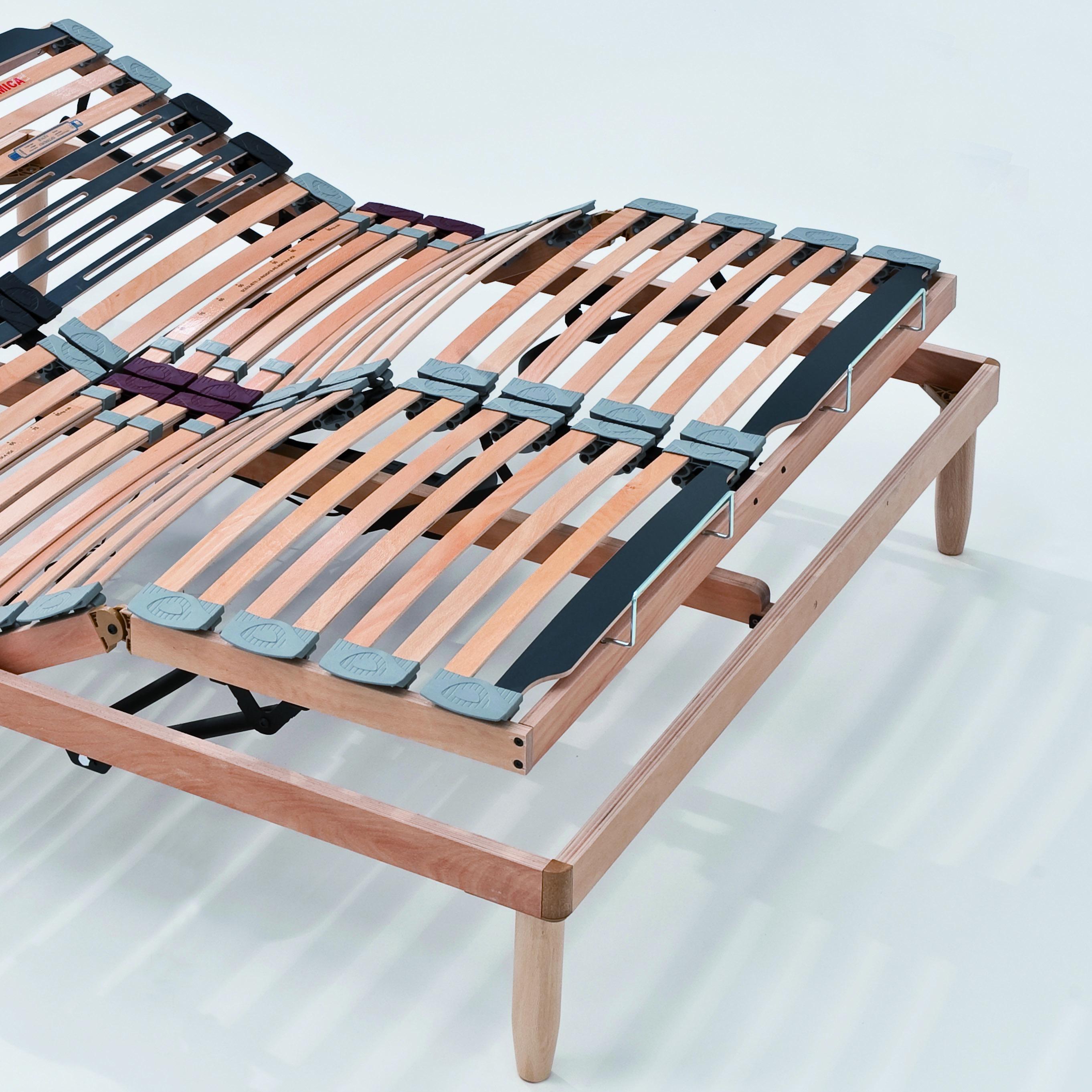Rete a doghe in legno matrimoniale alzata elettrica unica - Rete e materasso ikea ...