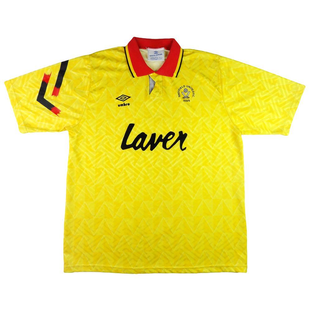 1991-93 Sheffield United Away Maglia XL