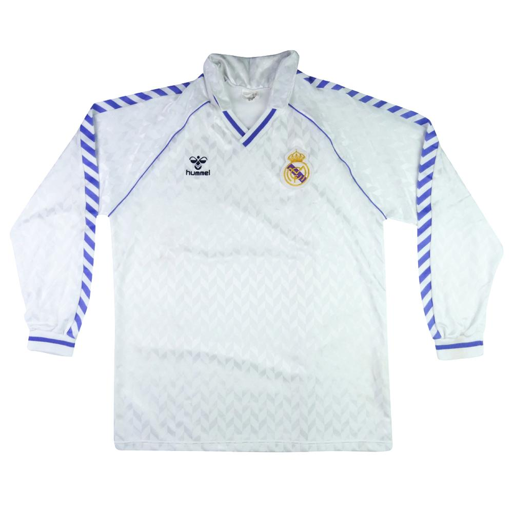 1986-88 Real Madrid Maglia Home XL