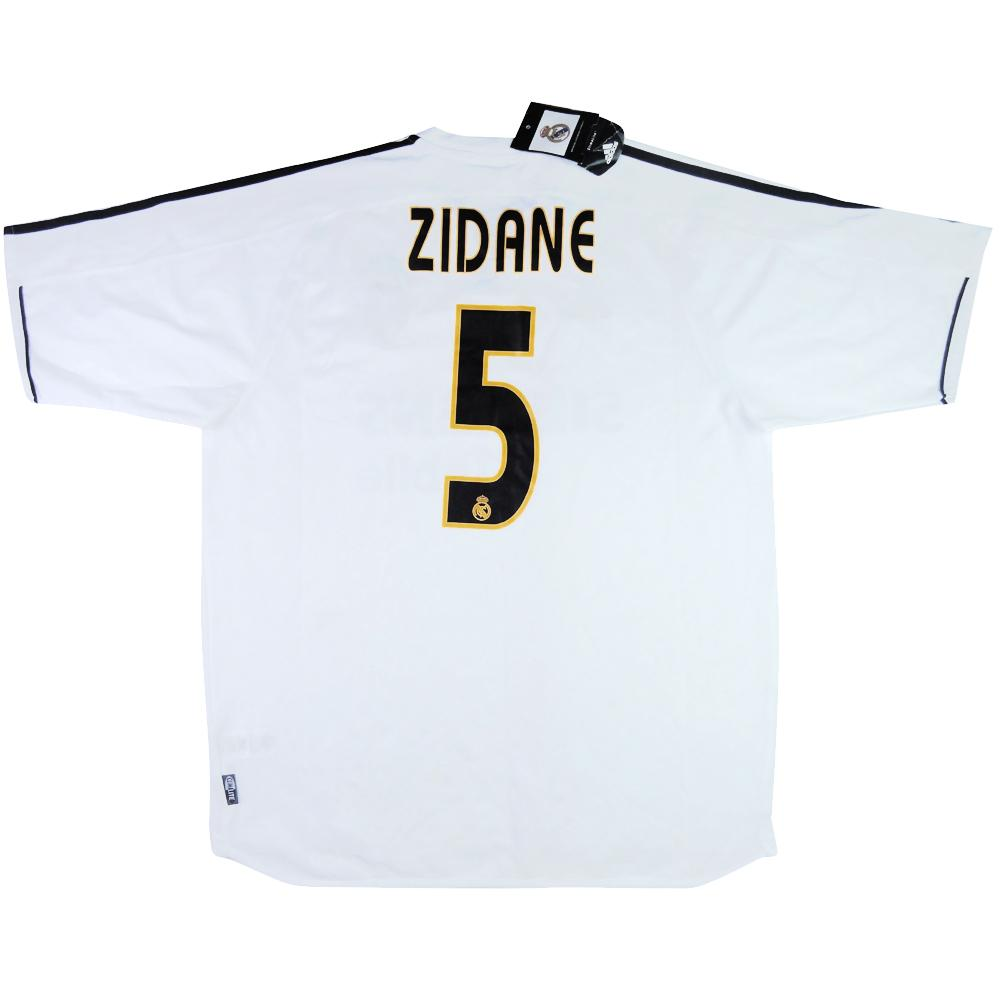 2003-04 Real Madrid Maglia Home #5 Zidane XL *Cartellino