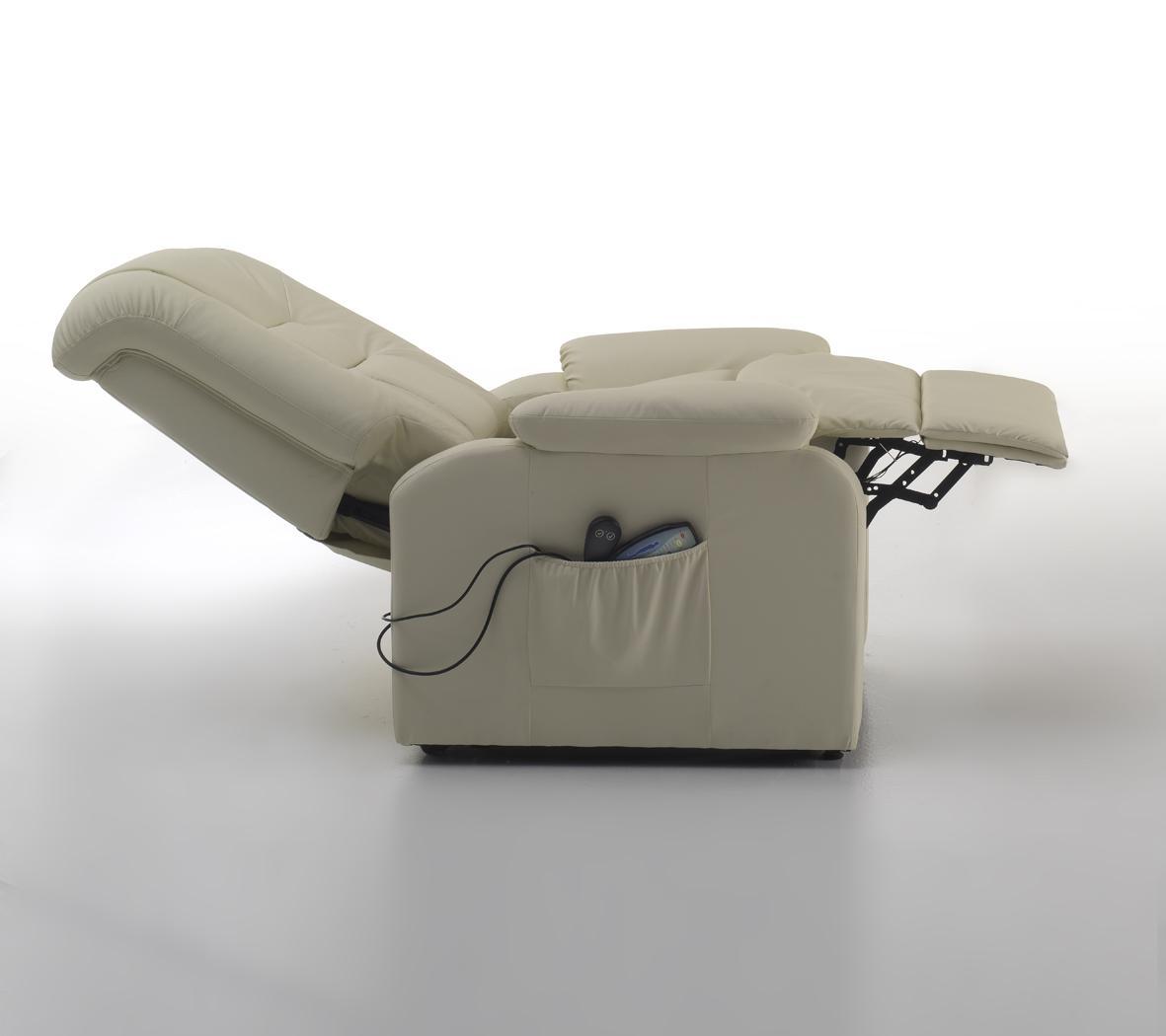 Poltrona elettrica relax con massaggio e alzapersona for Poltrona alzapersona