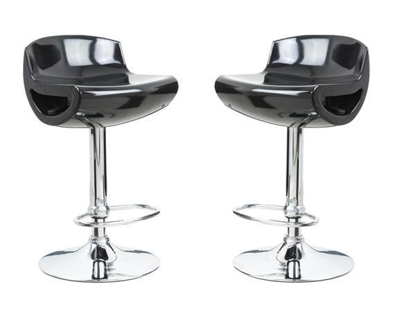 Coppia 2 sgabelli silver in abs per cucina bar ristorante