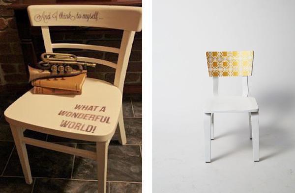 Riciclo creativo 5 idee per decorare sedie vecchie e for Decorare sedia legno