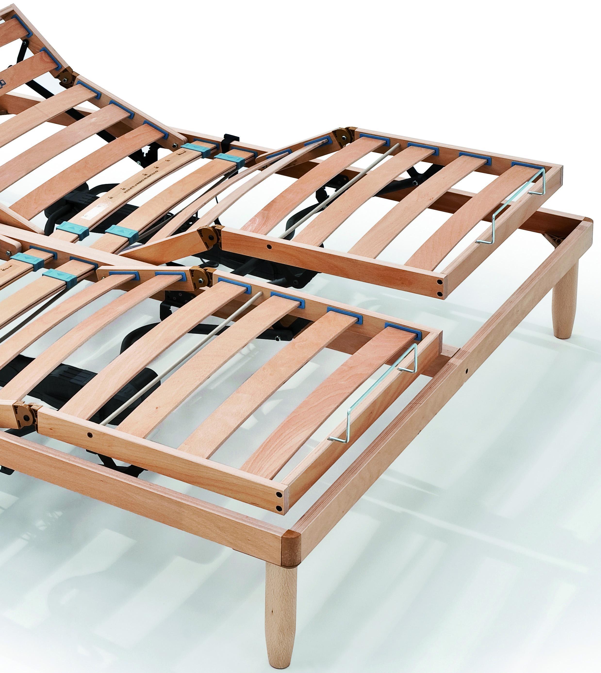 sommier lectrique lattes en bois mouvement ind pendant orange ebay. Black Bedroom Furniture Sets. Home Design Ideas