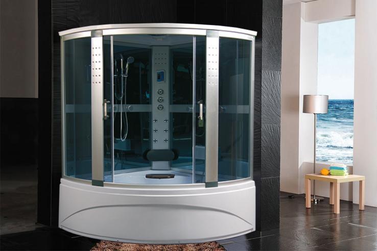 Cabina doccia idromassaggio sauna bagno turco 150X150 - casaecose.it