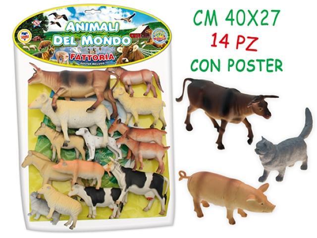ANIMALI FATTORIA GIGANTI IN BUSTA 70306 TEOREMA