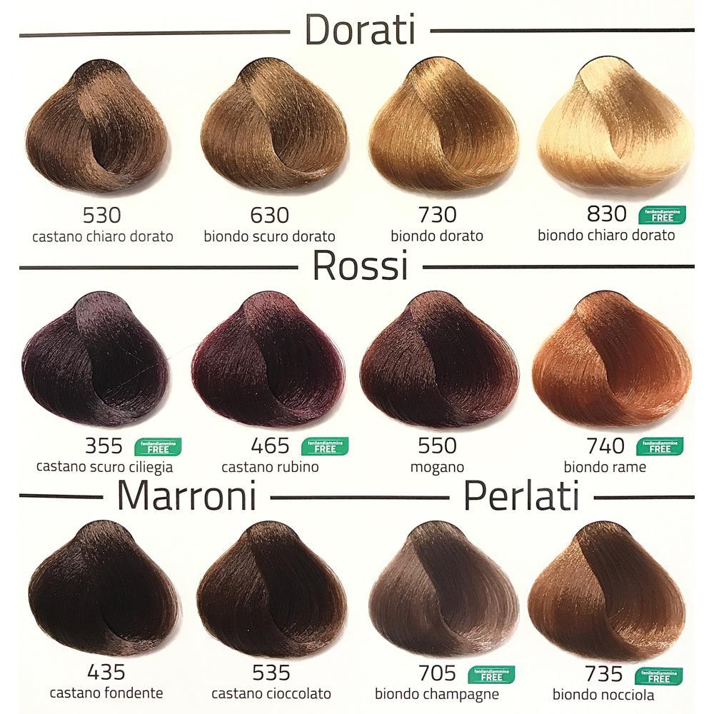 Cartella colori capelli euphidra