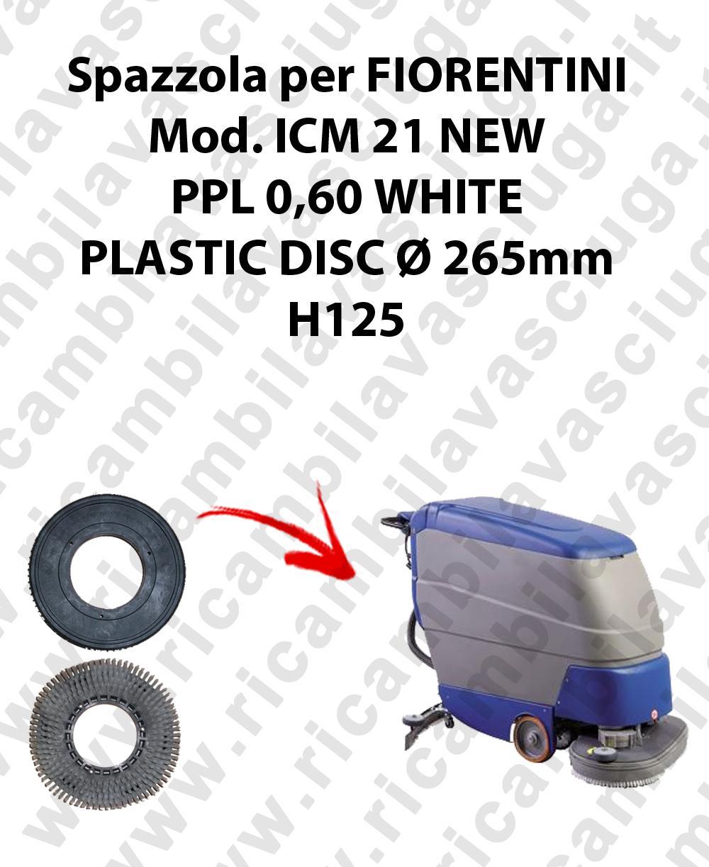 Spazzola lavare PPL 0.6 WHITE per lavapavimenti FIORENTINI modello ICM 21NEW