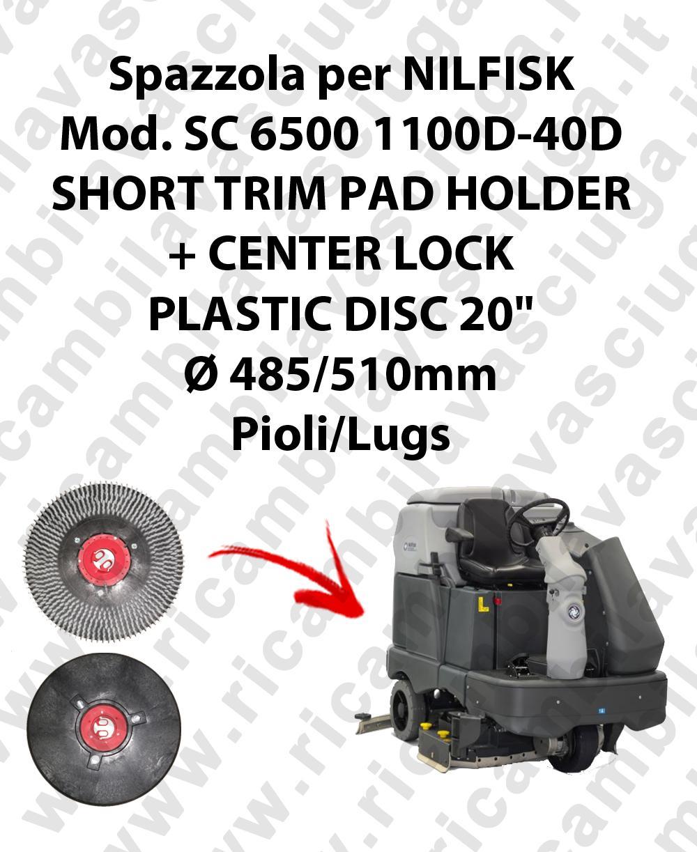 SHORT TRIM PAD HOLDER + CENTERLOCK per lavapavimenti NILFISK mod. SC 6500-40D