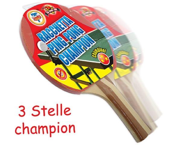 RACCHETTA PING PONG CHAMPION 3 STELLE 12MM 51201 TEOREMA
