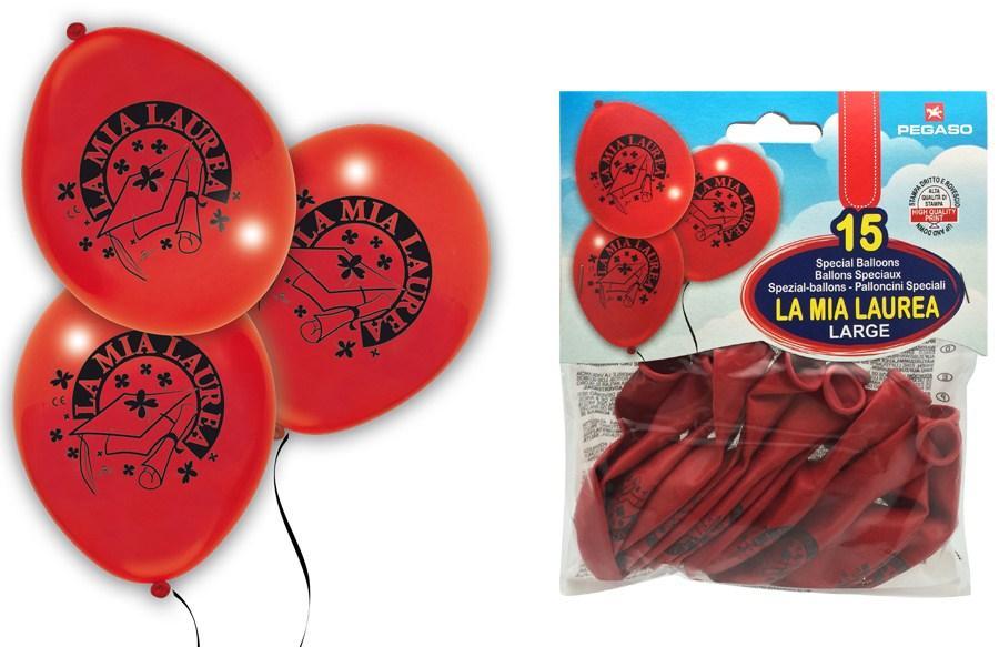 BUSTA 14 PALLONCINI LAUREA PB033-25 PEGASO