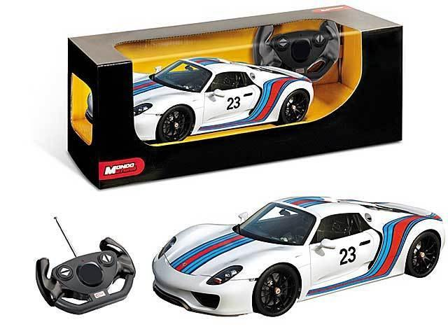 AUTO R/C 1:14 PORCHE 918 SPIDERMAN RACING 63301 MONDO S.P.A.