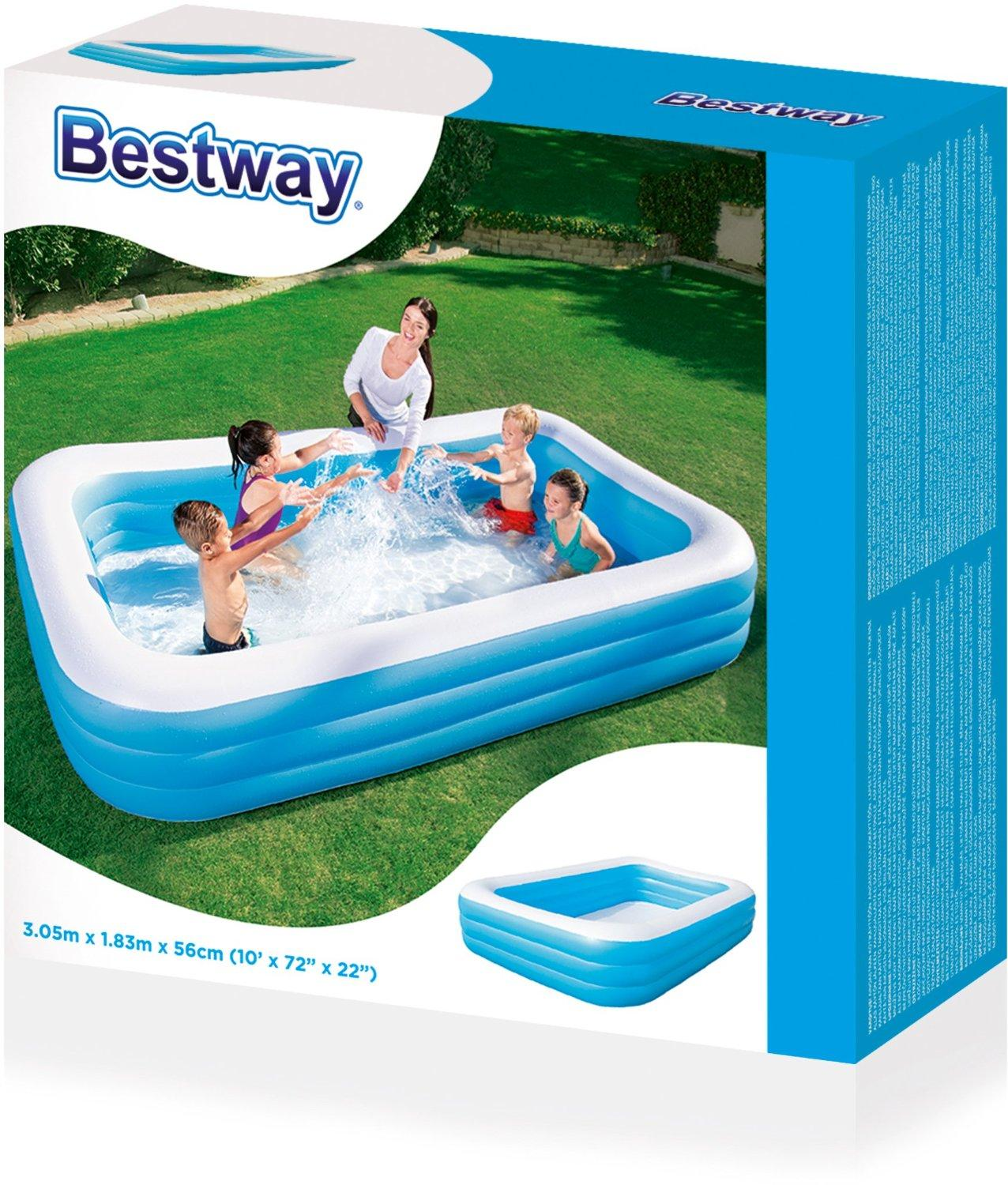 PISCINA FAMILY RETTANG. 3 ANELLI 305X 54009 BESTWAY EUROPE