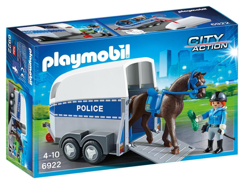 PL Poliziotta a cavallo con rimorchio 6922 PLAYMOBIL