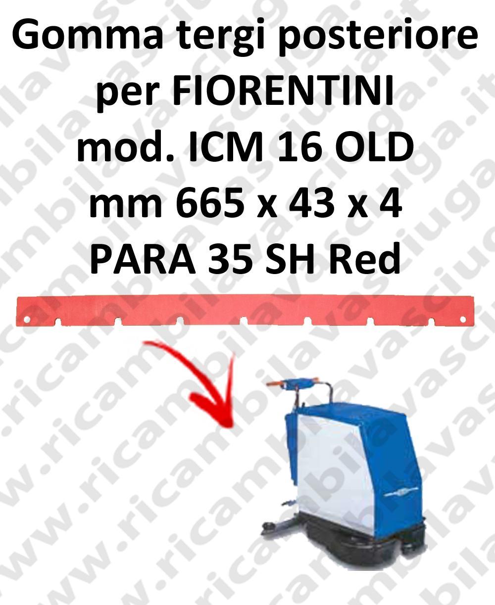 ICM 16 OLD GOMMA TERGI posteriore per tergipavimento FIORENTINI