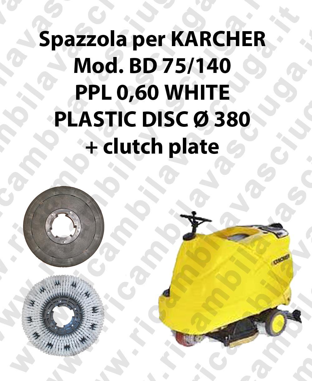 Spazzola lavare PPL 0.6 WHITE per lavapavimenti KARCHER modello BD 75/140