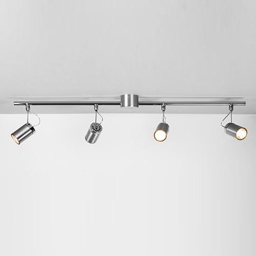 MONTANA barra soffitto con 4 faretti spot orientabili