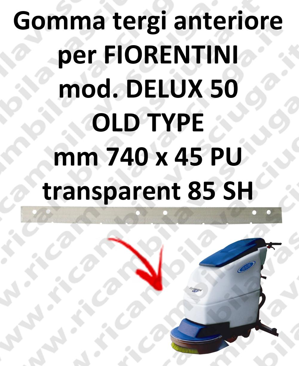 DELUX 50 old type GOMMA TERGI anteriore per tergipavimento FIORENTINI