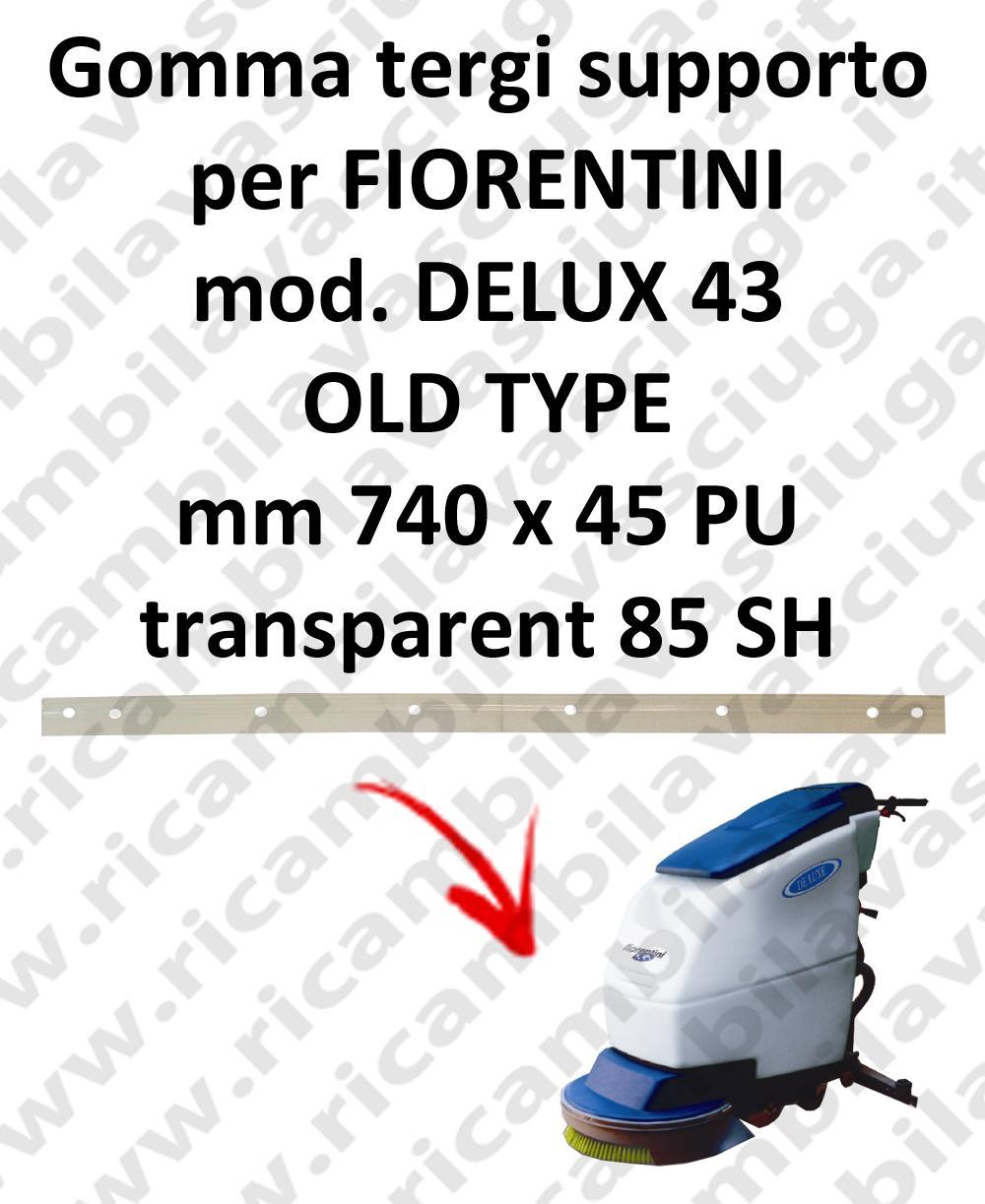 DELUX 43 old type GOMMA TERGI supporto per tergipavimento FIORENTINI