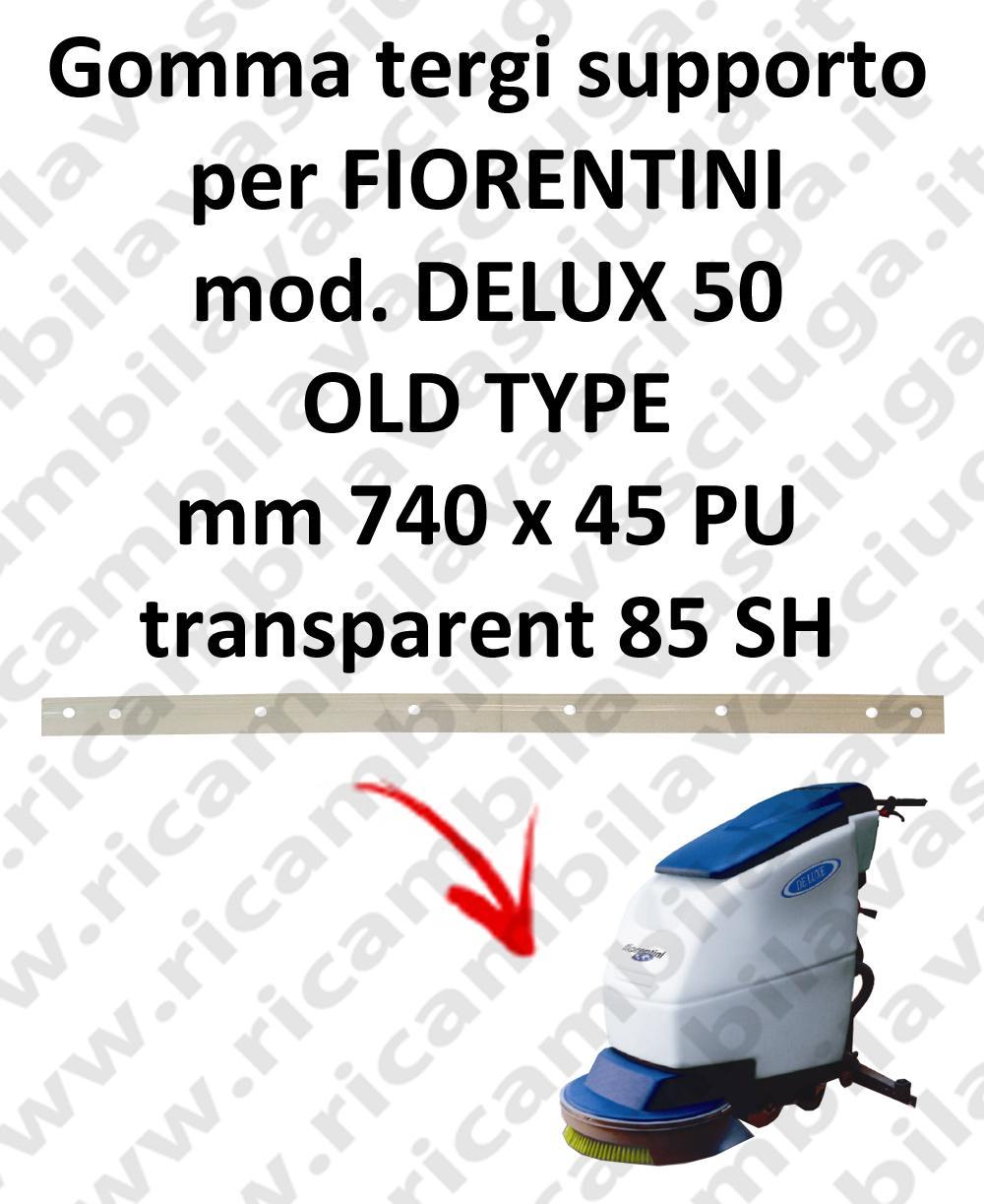 DELUX 50 old type GOMMA TERGI supporto per tergipavimento FIORENTINI