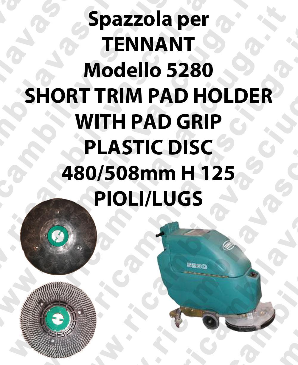 SHORT TRIM PAD HOLDER WITH PAD GRIP per lavapavimenti TENNANT mod 5280