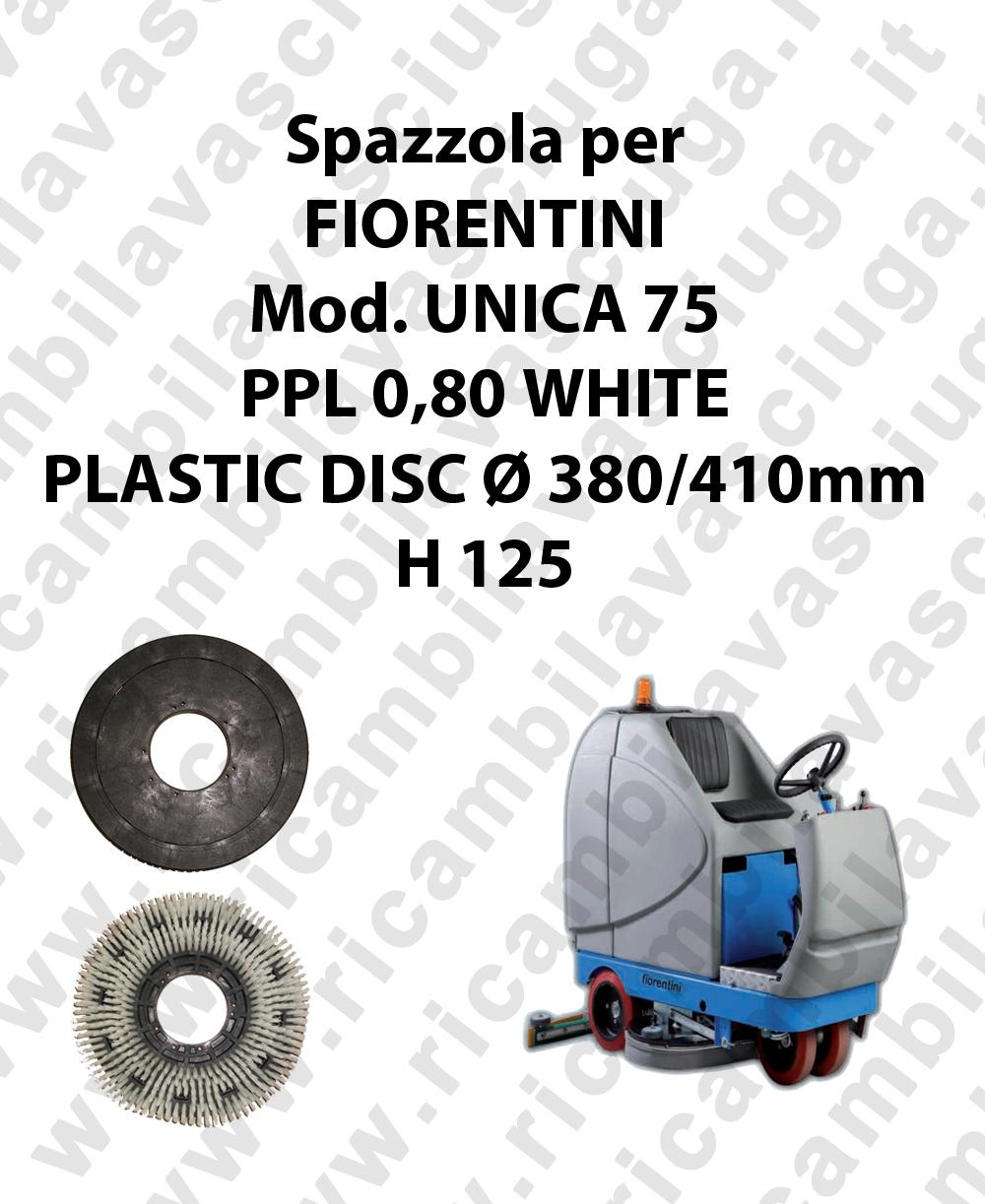 Spazzola lavare PPL 0,80 WHITE per lavapavimenti FIORENTINI modello UNICA 75