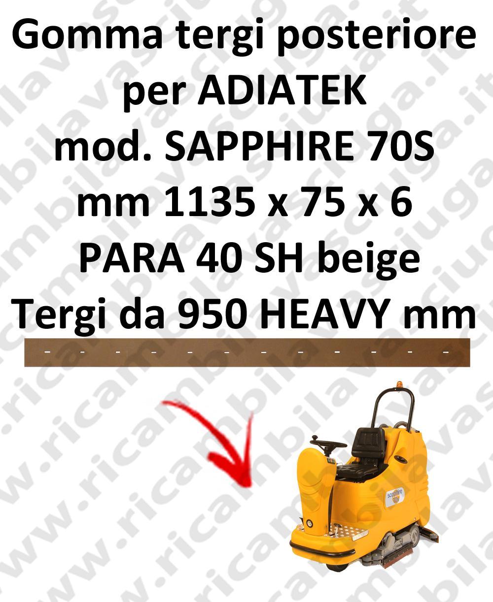 GOMMA TERGI posteriore per lavapavimenti SAPPHIRE 70S ADIATEK (tergi da 950 mm)