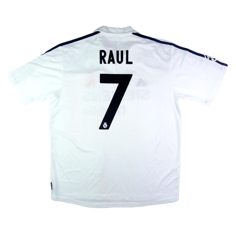 2002-03 Real Madrid Maglia Raul Centenario L #7  (Top)