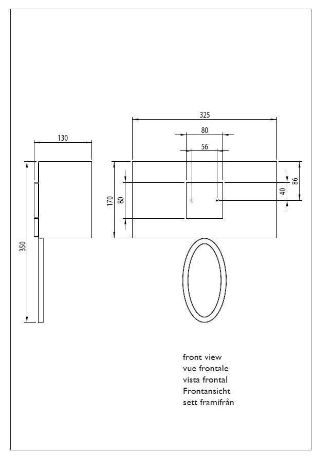 LIMA applique nichel con paralume bianco