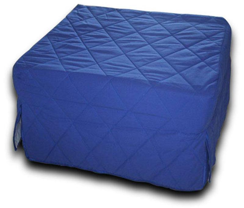 pouf lit pliant avec matelas en mousse polyur thane pouf lit ebay. Black Bedroom Furniture Sets. Home Design Ideas